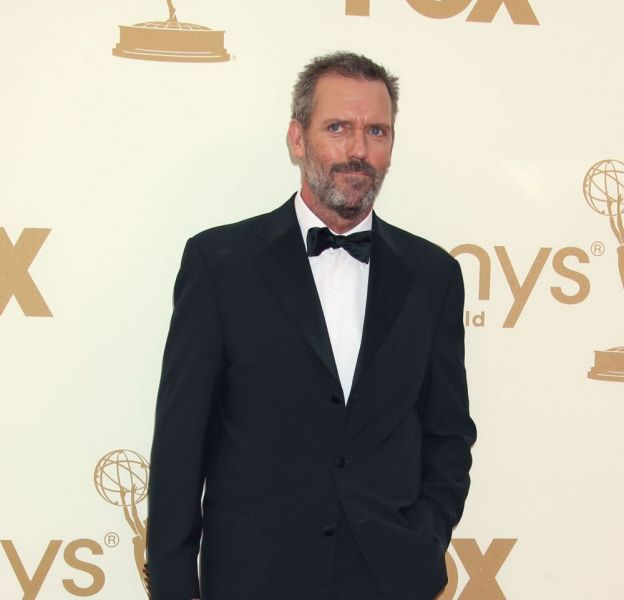 Hugh Laurie sur le tapis rouge des Emmy Awards 2011