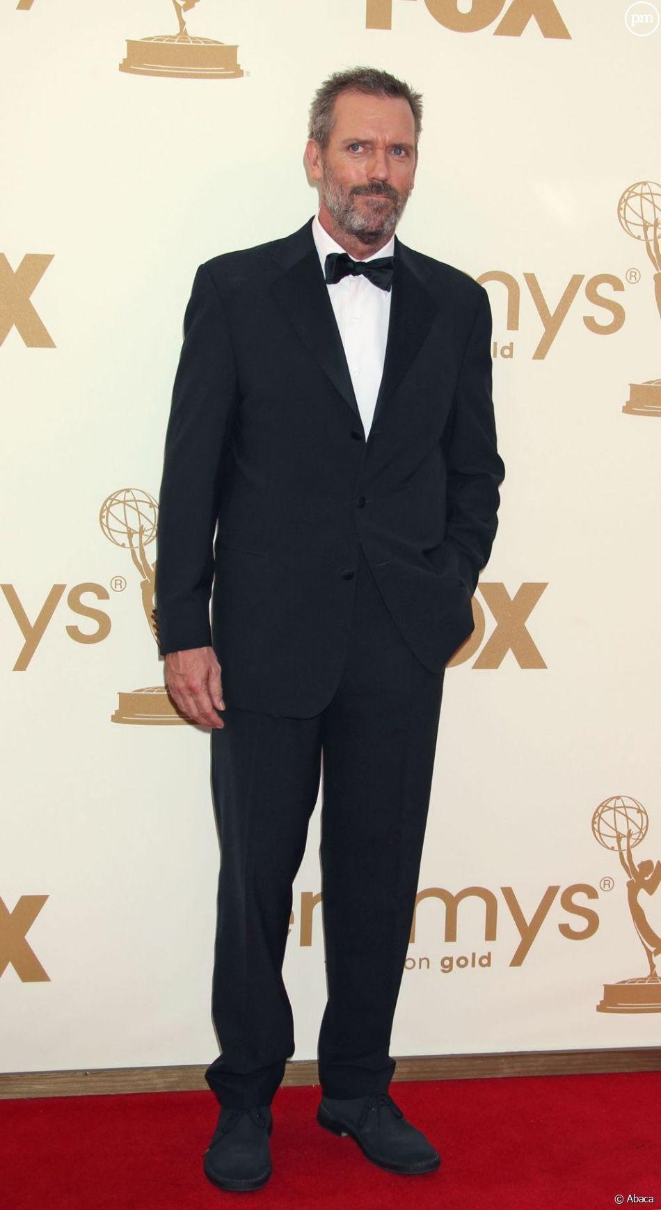 Hugh Laurie sur le tapis rouge des Emmy Awards 2011