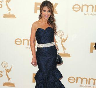 Paula Abdul sur le tapis rouge des Emmy Awards 2011