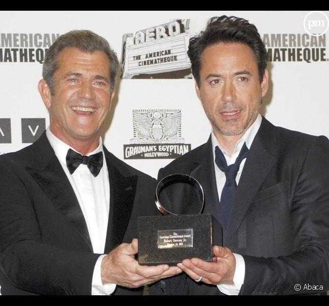 Mel Gibson et Robert Downey, Jr. à l'American Cinematheque