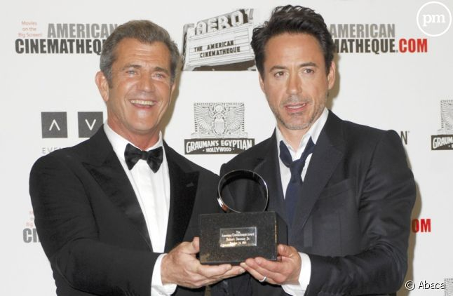 Mel Gibson et Robert Downey, Jr. à l'American Cinematheque