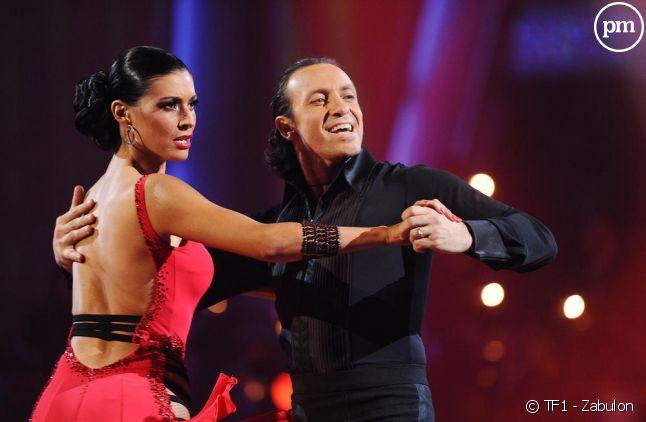 """Philippe Candeloro et sa partenaire Candice dans l'émission """"Danse avec les stars"""", en 2011 sur TF1"""
