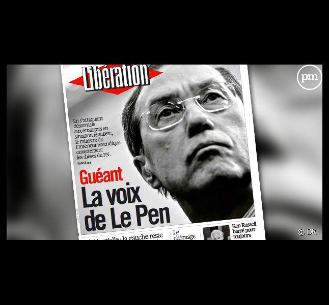 La Une de Libération du mardi 29 novembre 2011.