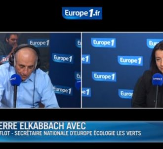 Cécile Duflot face à Jean-Pierre Elkkabach.
