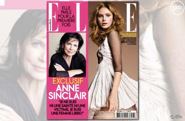 Anne Sinclair en couverture de Elle