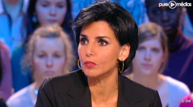 """Rachida Dati, sur le plateau du """"Grand Journal"""" le 30 janvier 2012."""