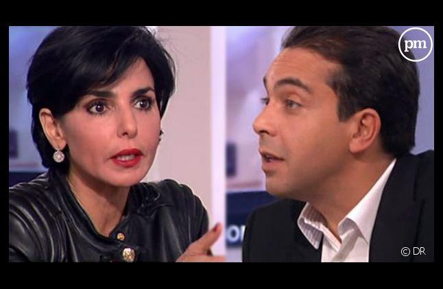"""Rachida Dati face à Patrick Cohen dans """"C a vous"""" sur France 5."""