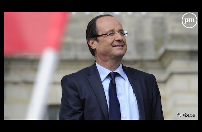 François Hollande lors de son meeting de Vincennes, le 15 avril 2012