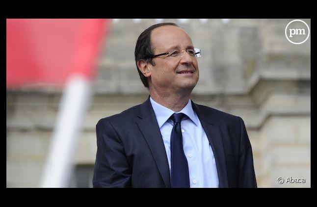 François Hollande lors de son meeting de Vincennes, le 15 avril 2012