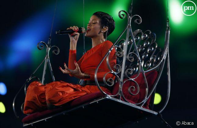 La chanteuse Rihanna.