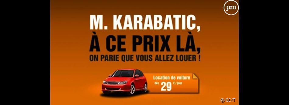 Sixt rebondit sur l'affaire Karabatic dans une publicité