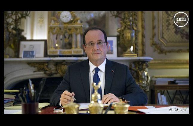 Franois Hollande à son bureau, le 17 décembre 2012.