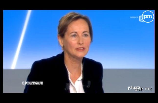 """Ségolène Royal sur le plateau de """"C politique"""" hier"""