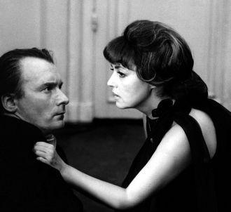 Jeanne Moreau et Michel Bouquet dans 'La Mariée était en...