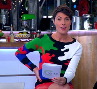Alessandra Sublet, dans 'C à vous' le 10 décembre 2013.