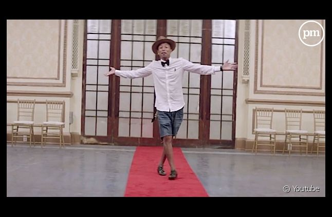 "Pharrell Williams dans le clip de ""Happy"""