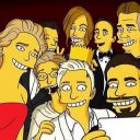 La selfie des Oscars, version Simpsons