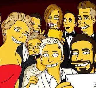 La selfie des Oscars, version Simpsons