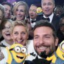 """Le selfie avec les """"minions"""" du film """"Moi, moche et méchant 2"""";"""