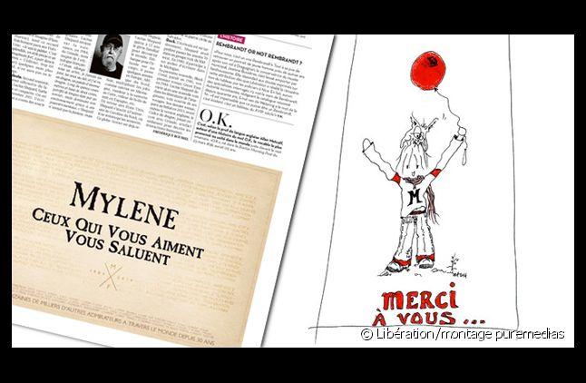 """Mylène Farmer remercie ses fans dans """"Libération"""""""