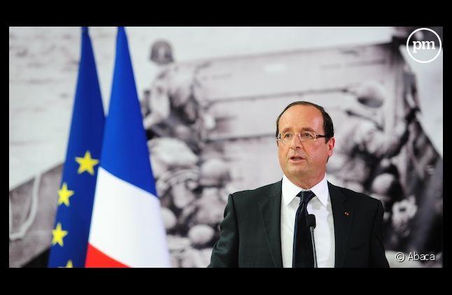 François Hollande lors du 68e anniversaire du Débarquement.