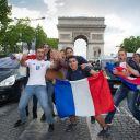 Les supporters des Bleus pendant France/Nigeria, le 30 juin 2014.