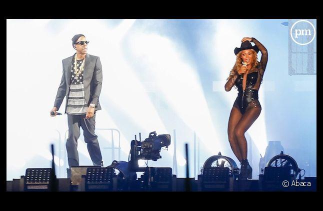 """Beyonce et Jay Z dans le """"On the run tour""""."""