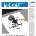 """Une de """"La Croix"""""""