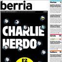 """Une de """"Berria"""", journal basque"""
