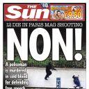 """Une du """"Sun"""", tabloïd anglais"""