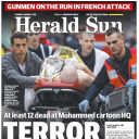"Une du ""Herald Sun"""