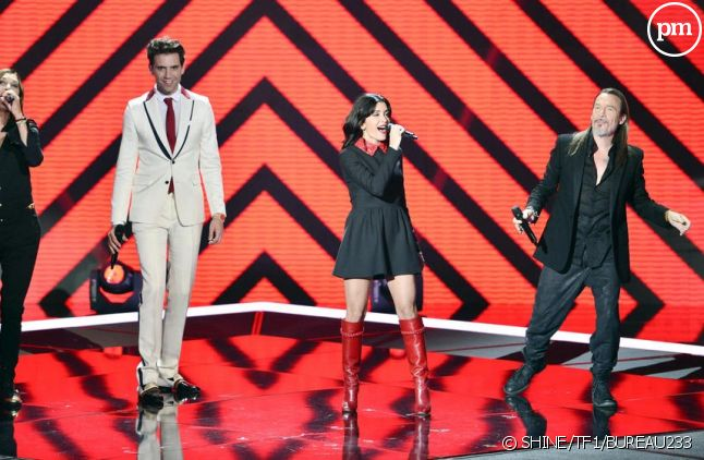 """Le jury de """"The Voice"""" 2015 : Zazie, Mika, Jenifer et Florent Pagny"""