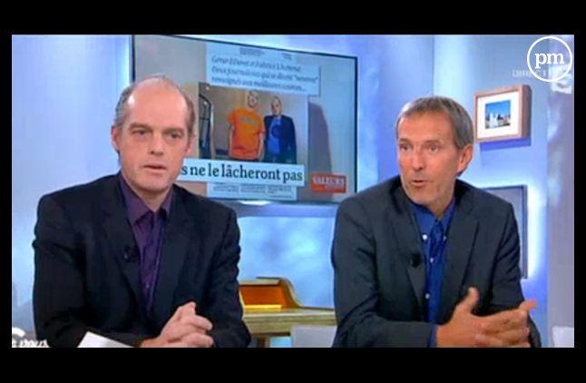 Fabrice Lhomme et Gérard Davet, journalistes au Monde.