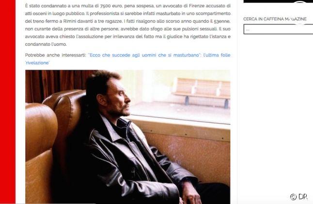 Johnny Hallyday passe pour un pervers en Italie