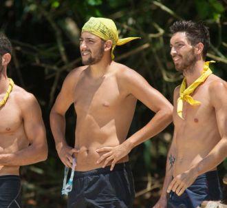 Nessim, Sébastien et Cédric dans 'Koh-Lanta' 2015