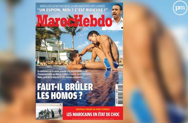 """La Une de """"Maroc Hebdo""""."""
