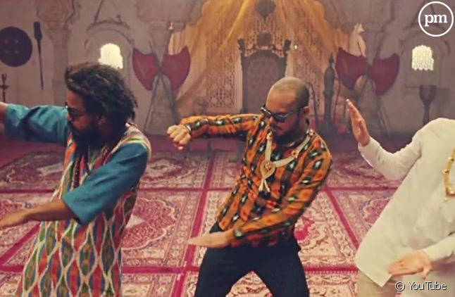 "Major Lazer dans le clip de ""Lean On"""