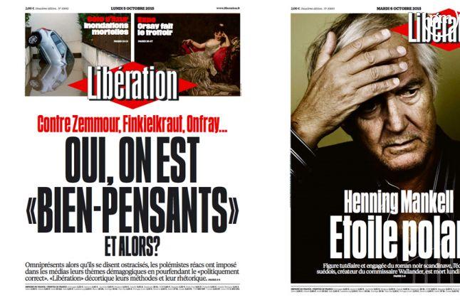 """""""Libération"""" du 5 et 6 octobre 2015."""