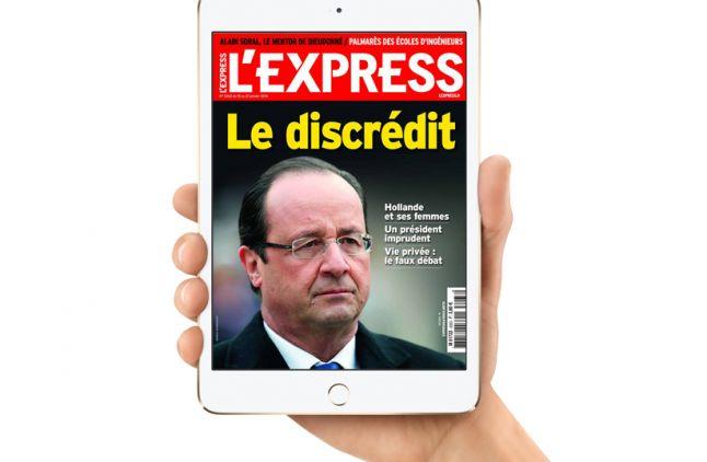 """""""L'Express"""" au format numérique."""