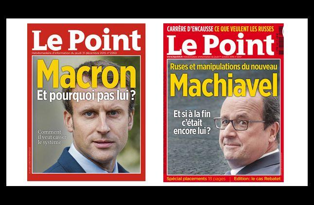 """""""Le Point"""", en décembre et octobre 2015."""