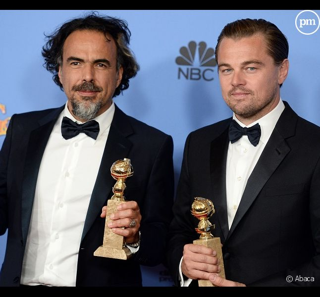 "<span>Alejandro G. Inarritu et Leonardo DiCaprio reçoivent trois Golden Globes pour ""The Revenant""</span>"