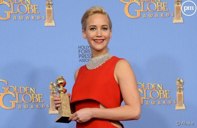 Jennifer Lawrence remporte le Golden Globe de la meilleure actrice dans une comédie.