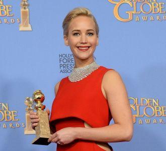 Jennifer Lawrence remporte le Golden Globe de la...