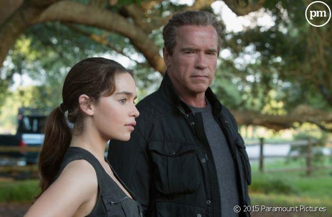 """Arnold Schwarzenegger et Emilia Clarke dans """"Terminator Genisys"""""""