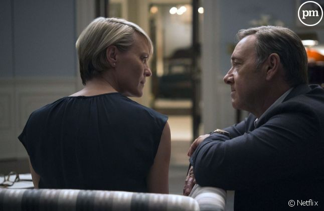 """Robin Wright et Kevin Spacey dans """"House of Cards"""""""