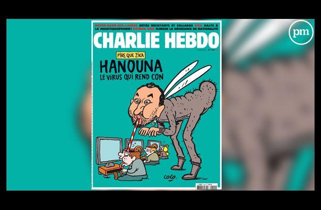 """La Une méchamment drôle de """"Charlie Hebdo""""."""