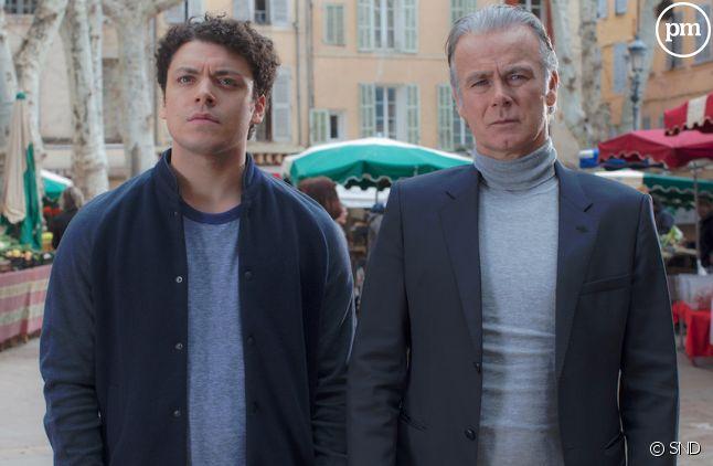 "Franck Dubosc et Kev Adams dans ""Fiston"""