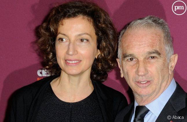 Audrey Azoulay, nouvelle ministre de la Culture et Alain Terzian, président des César.
