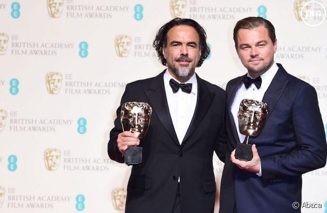 <span>Leonardo DiCaprio et le réalisateur Alejandro Gonzalez Inarritu</span>