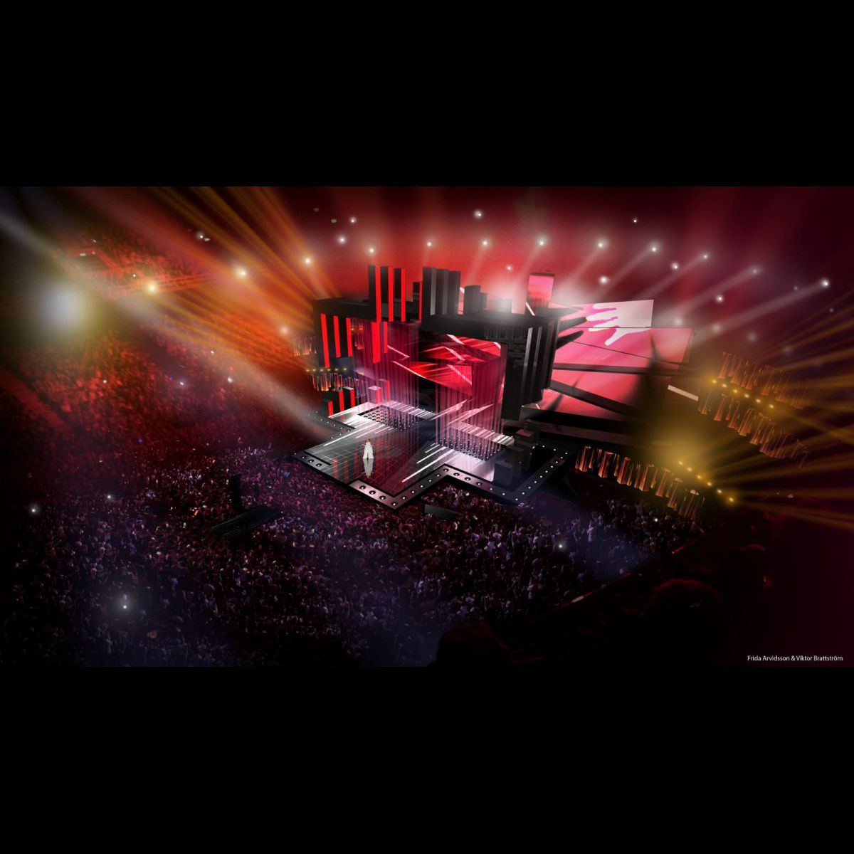 eurovision 2016 la su de d voile le plateau spectaculaire de la c r monie puremedias. Black Bedroom Furniture Sets. Home Design Ideas